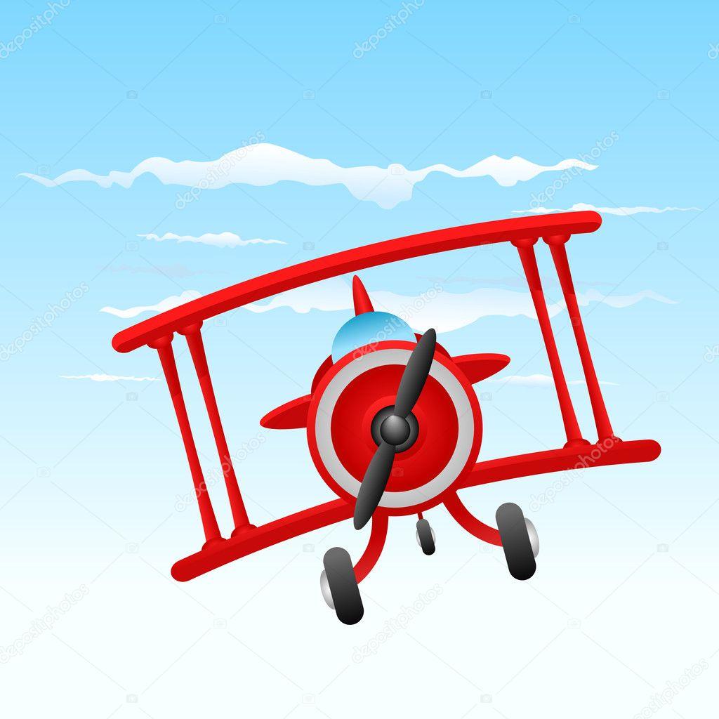 cartoon old plane u2014 stock vector bogalo 7984695