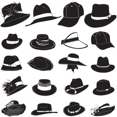 Fashion hat set vector stock vector