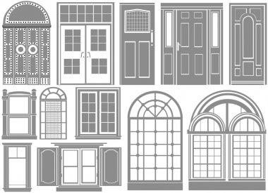 Door and window set