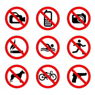 Prohibit sign set
