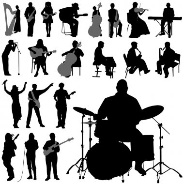 Set of musician