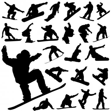 Snowboard set vector stock vector