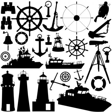 Sailing object vector