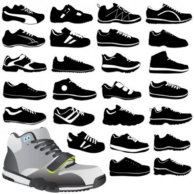 Fashion sport shoes set