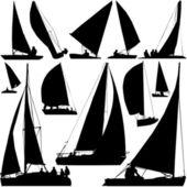 Segelboot Race Vektor