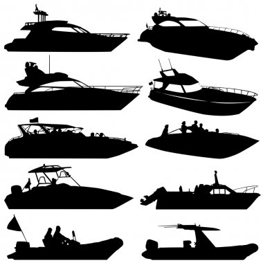 Motor yacht set vector stock vector