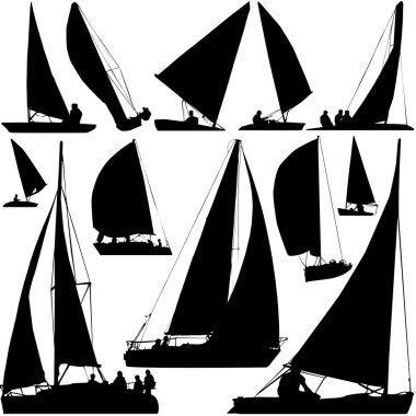 Sailing boat race vector