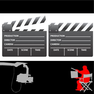 Clapboard and director