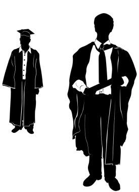 Graduate vector clothes detail