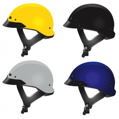 Motorcycle helmet set