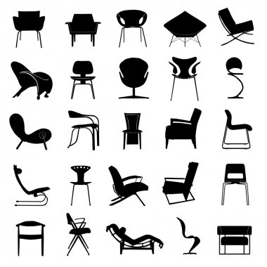 Modern chair vector set stock vector