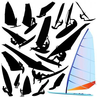 Wind surfing vector