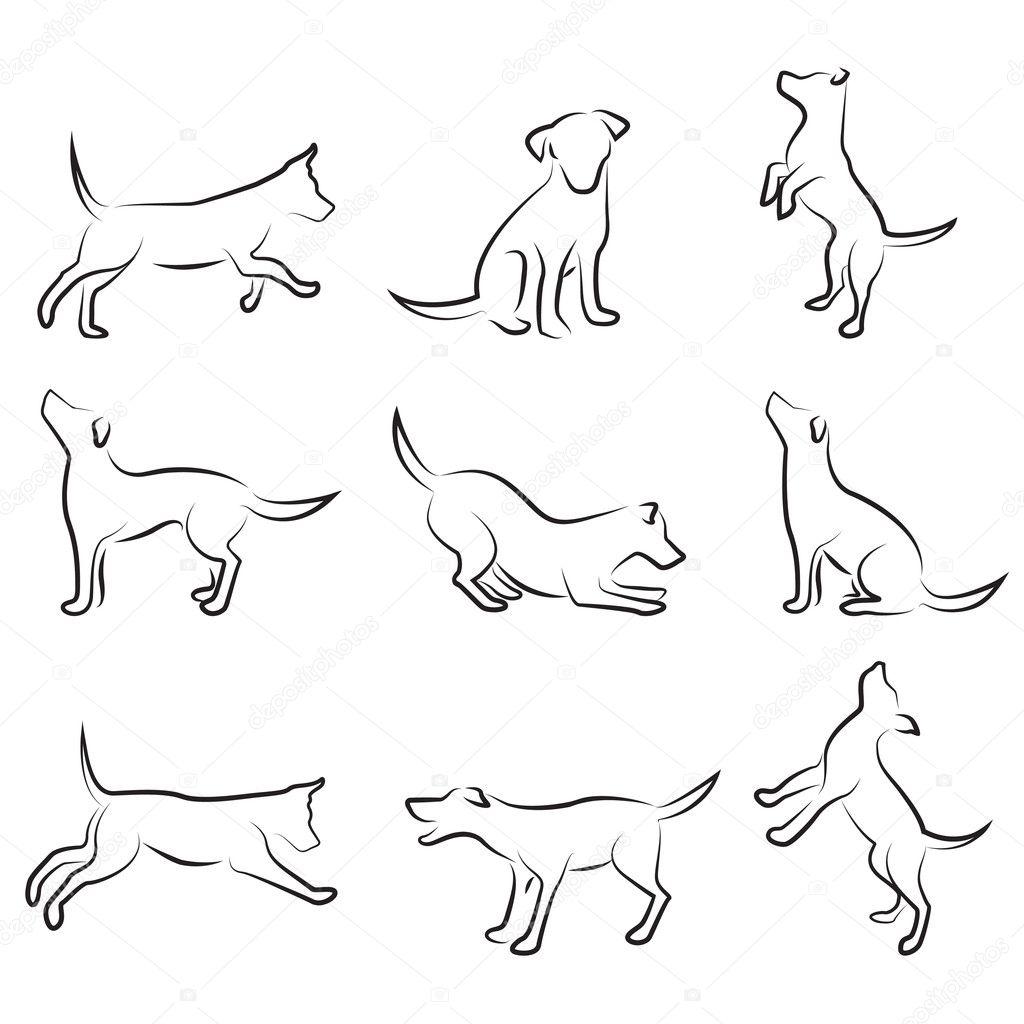 Pies Grafika Wektorowa Depositphotos