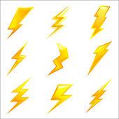 Fotografie výkonný blesk šrouby vektor
