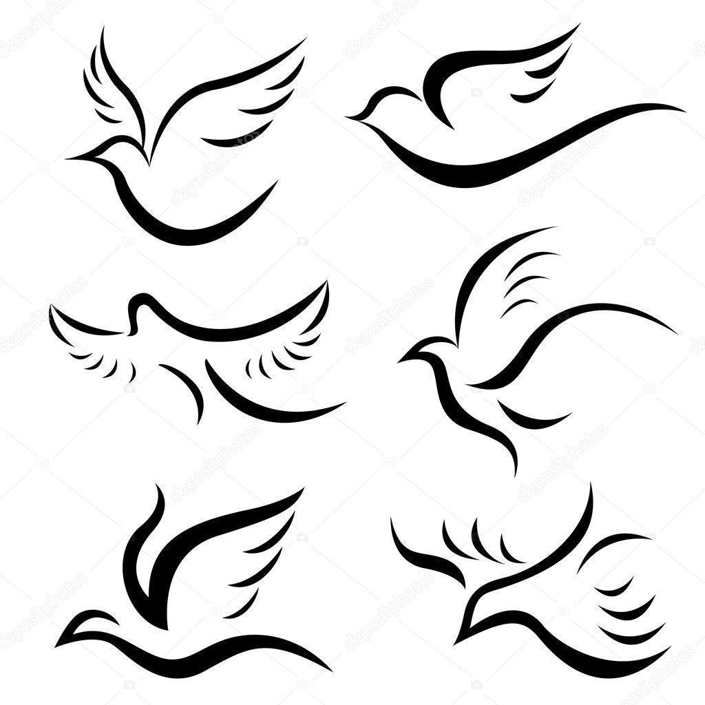 Dessins d 39 oiseaux image vectorielle bogalo 9981517 - Dessin oiseau qui chante ...