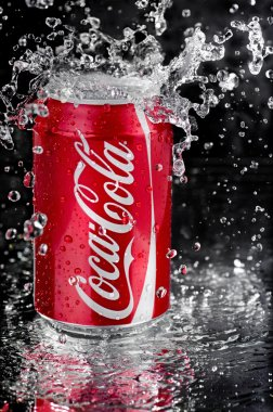 Coca Cola splash