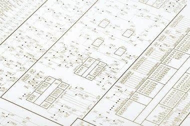 Drawing electrical circuit