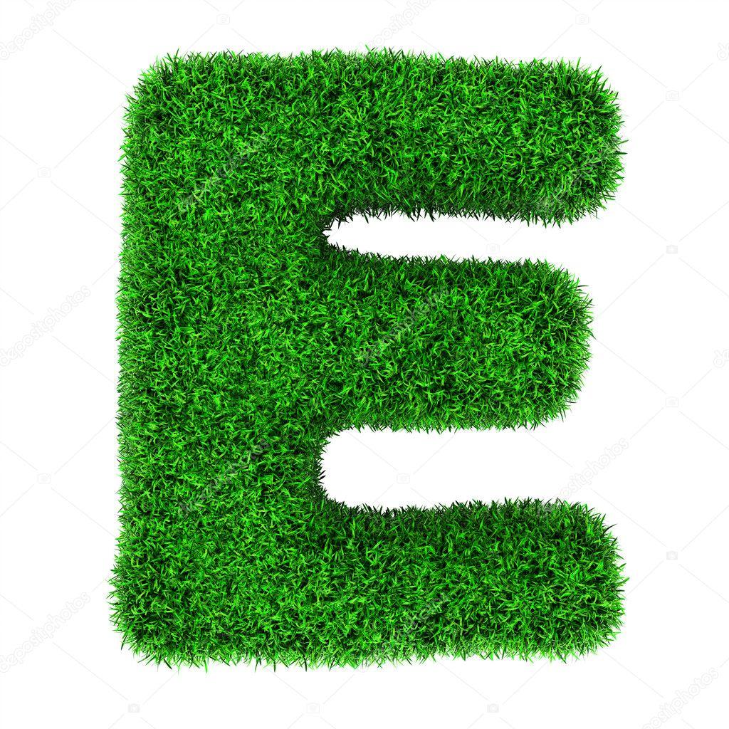 Grass letter E