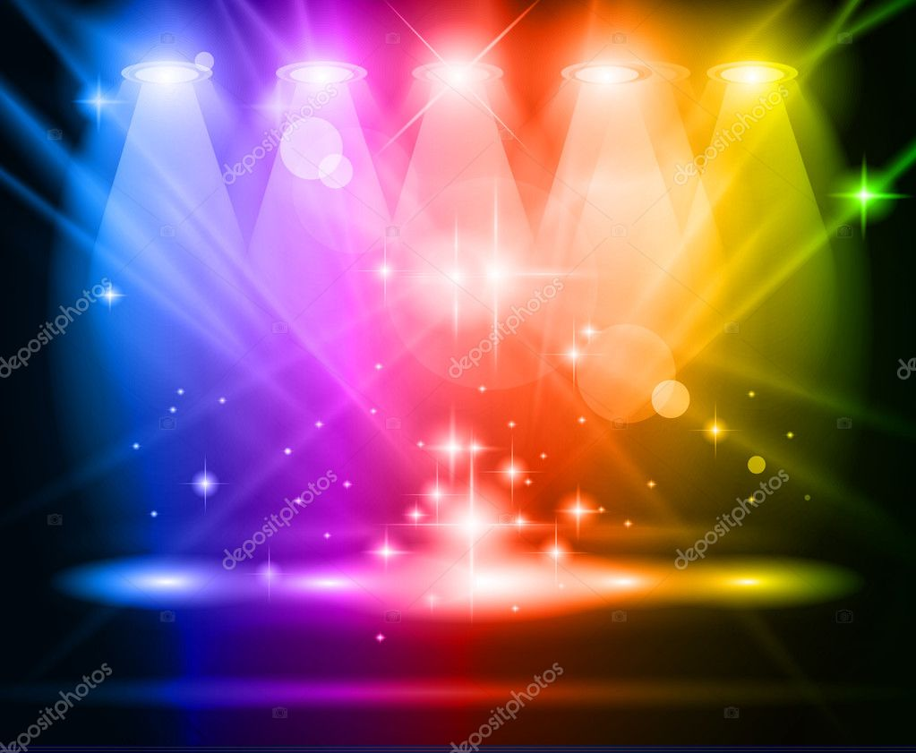 Magic Spotlights with Rainbow rays