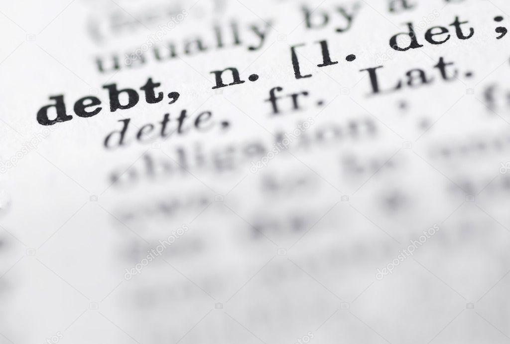 Schulden Englisch