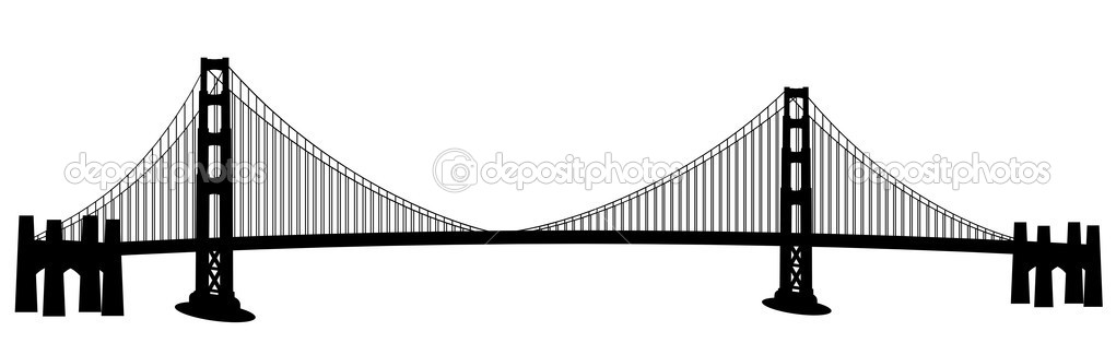 san francisco golden gate bridge clip art stock photo jpldesigns rh depositphotos com bridges clipart free bridge clipart png