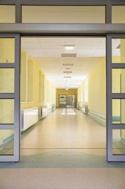 Entering a hospital