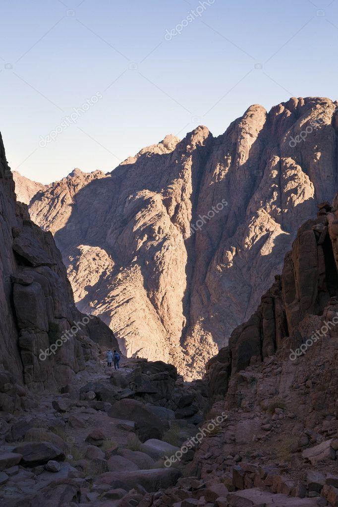 Pilgrims in Sinai Mountains near to St Catherine's Monastery