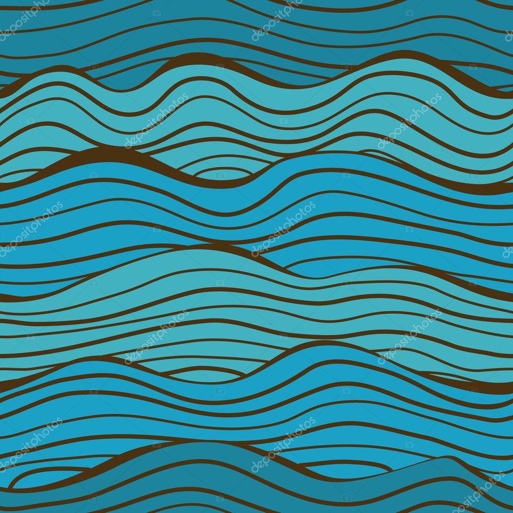 Seamless sea waves pattern