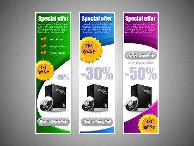 Special Offer Banner Set Vector Colored 8