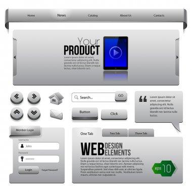 Metal Ribbons Website Design Elements
