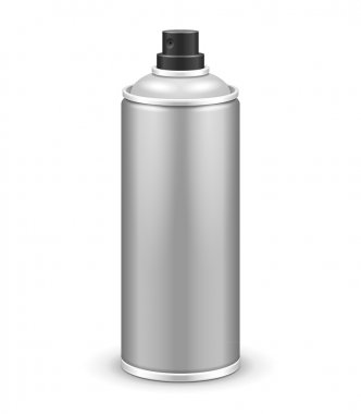 Gray Aerosol Spray Metal 3D Bottle Can: Paint, Graffiti, Deodorant