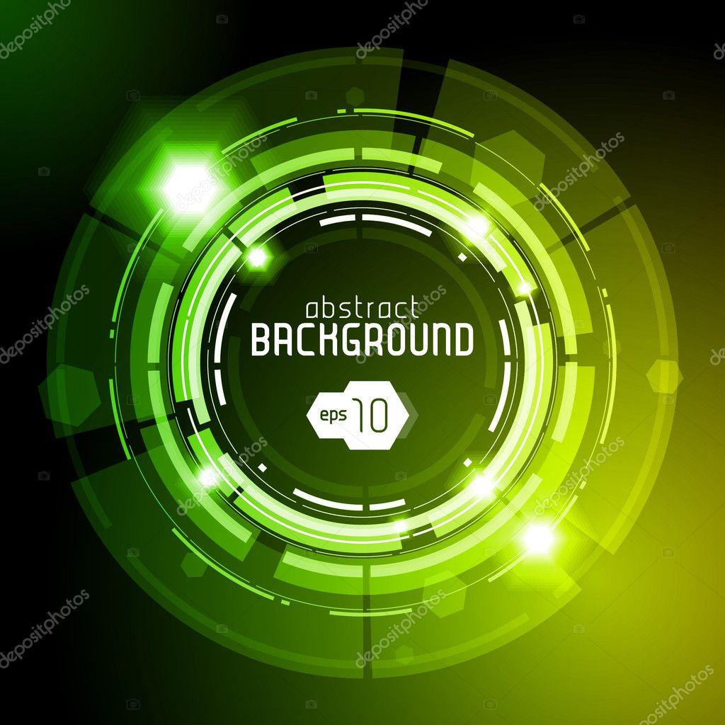 Shiny Dark Round Background Green