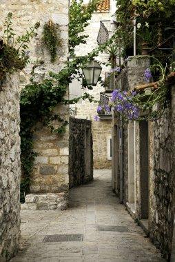 Budva old town street, montenegro