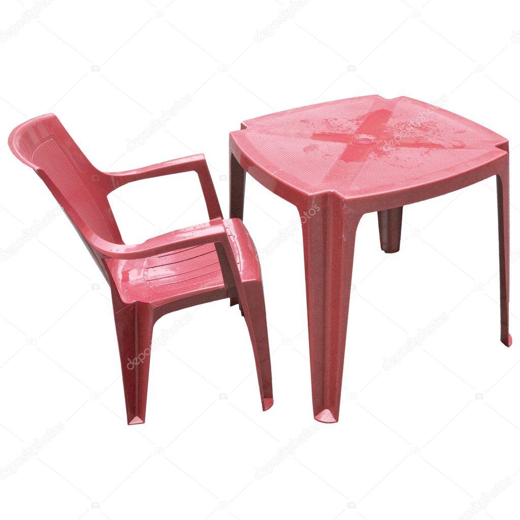 Plastique Table Et Chaise De Bar Al Fresco Isol Sur Fond Blanc Image Scrisman