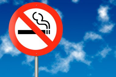 No Smoking traffic sign