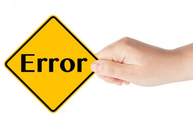 Error sign with hand