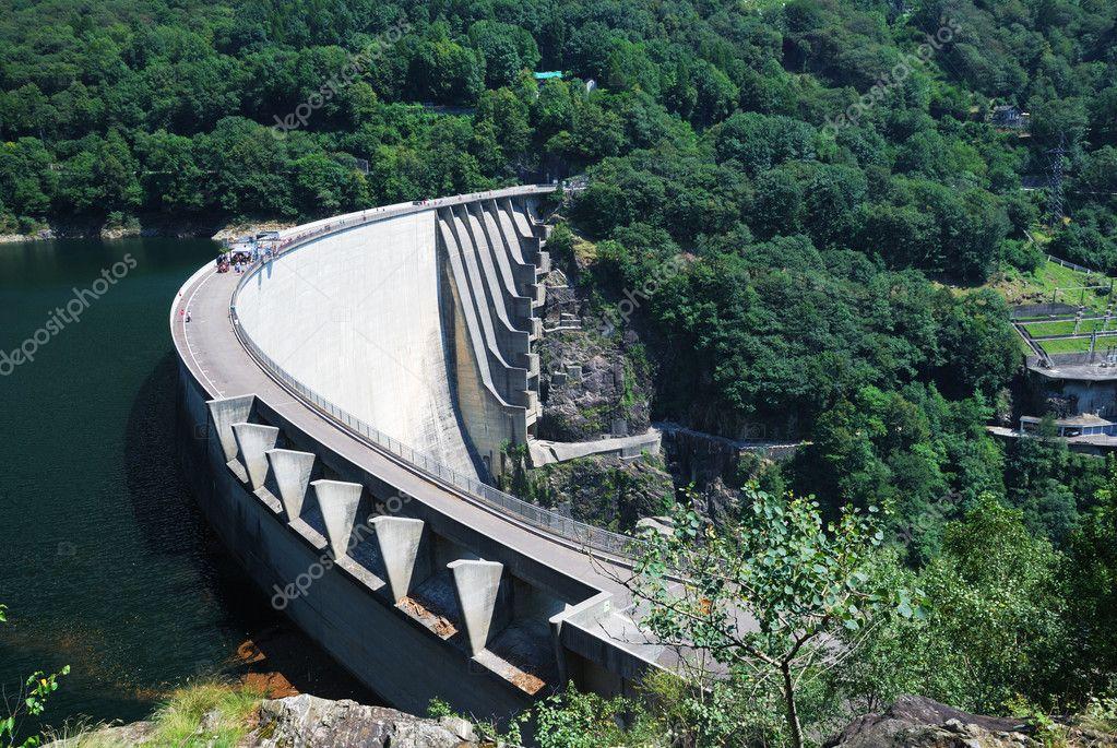 Verzasca dam near Locarno, Switzerland.