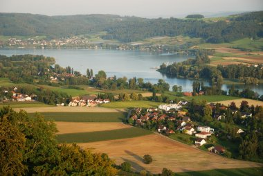 Outskirts of Stein am Rhein from above.