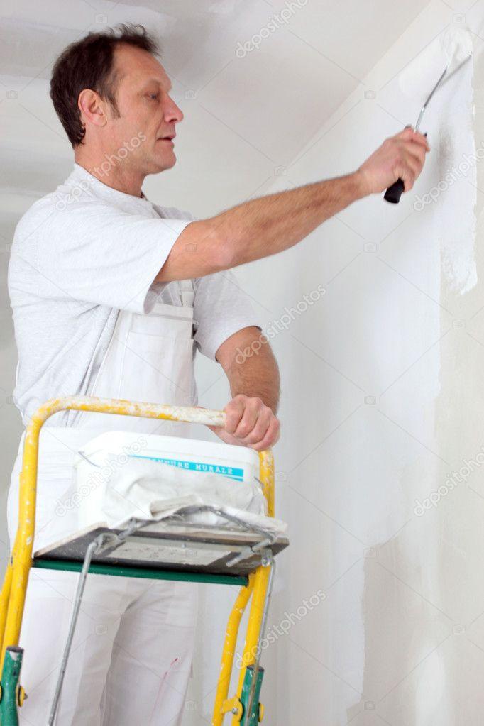 Sala pintor decorador sola fotos de stock - Decorador de fotos ...