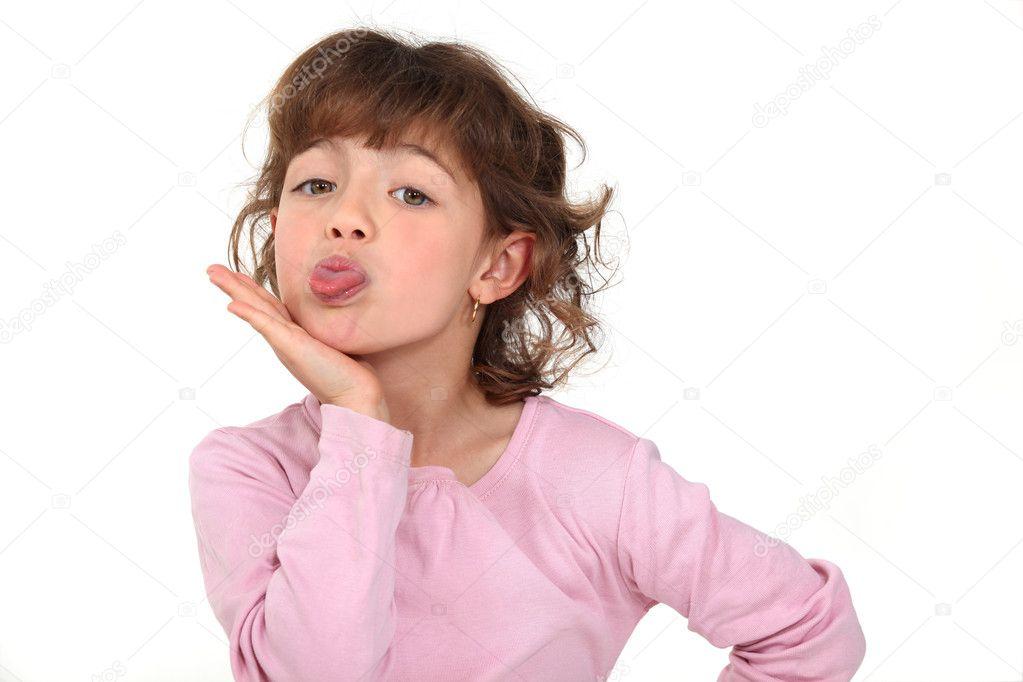 niña sacando la lengua — Foto de stock © photography33