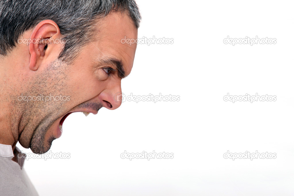 An angry man yelling — Stock Photo © photography33 #8483458