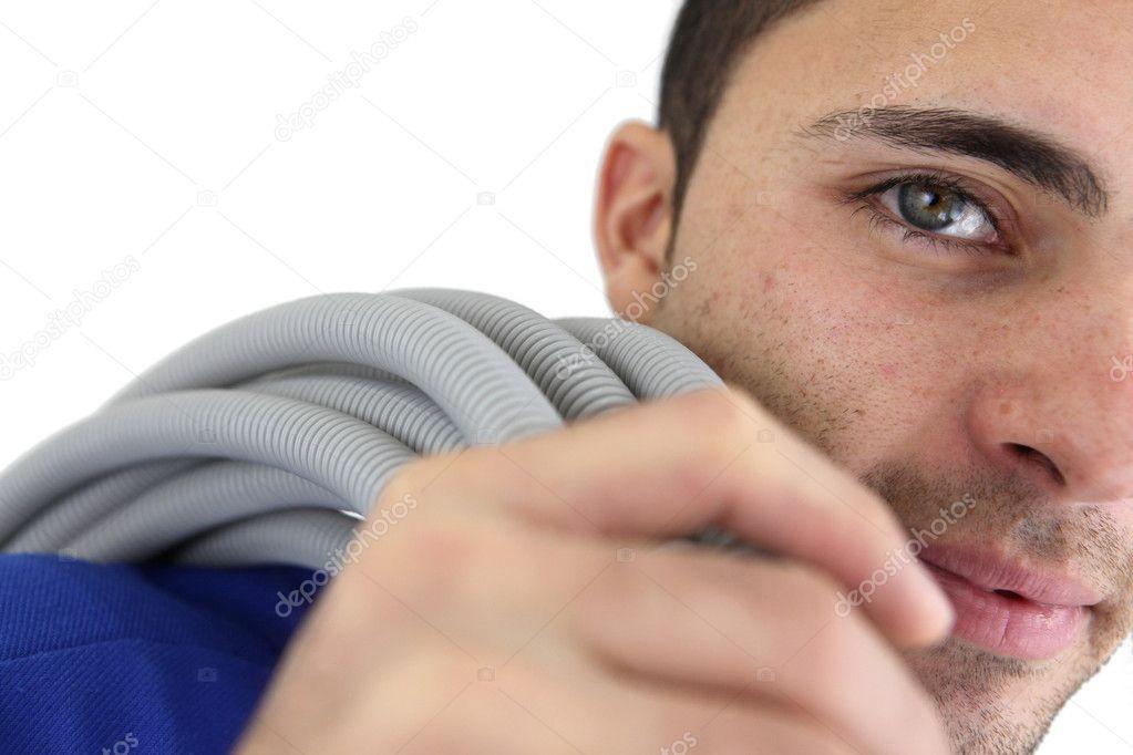 Elektriker mit Verkabelung — Stockfoto © photography33 #9584292