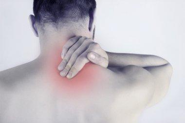 Acute neck pain - man