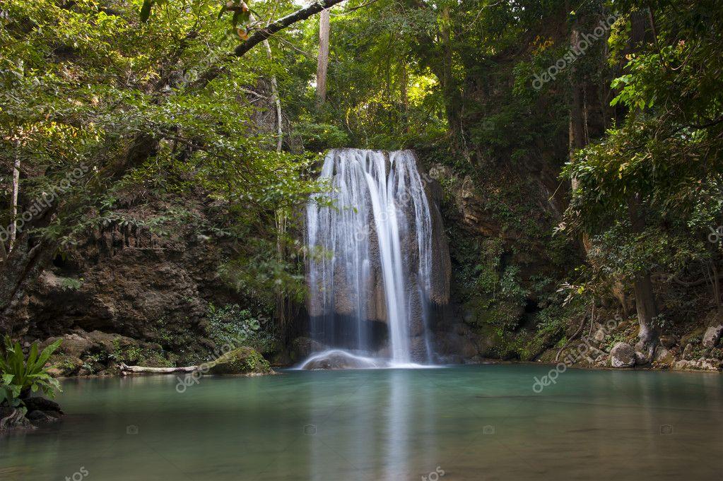 Waterfall from kanjanaburi province of thailand