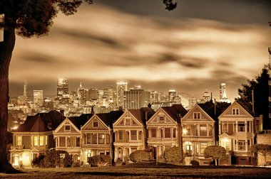 San Francisco Victorian homes at Alamo Square