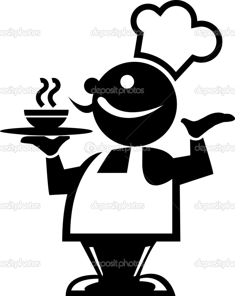 silhouette of a chef stock vector thunderstormik1 9229754 rh depositphotos com Chef Hat Clip Art Chef Hat Clip Art