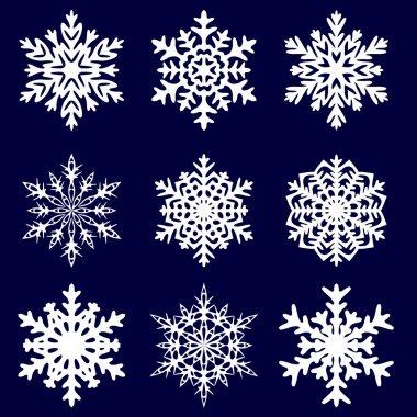 Decorative snowflake. Vector illustration.