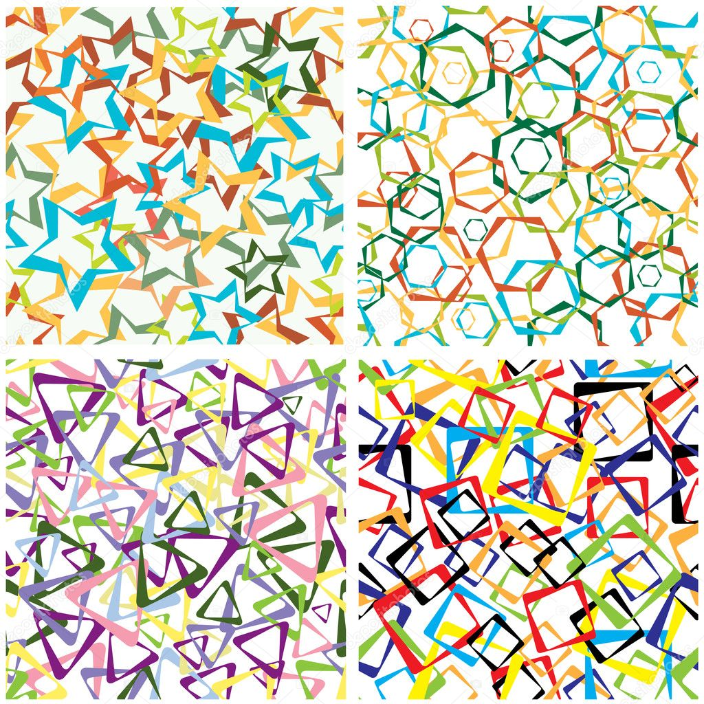 Abstract background from geometrical figures. Seamless