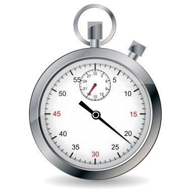 Stopwatch. Vector illustration.