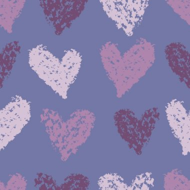 Lilac hearts seamless pattern